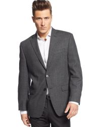 Calvin Klein Grey Heather Herringbone Sport Coat - Lyst