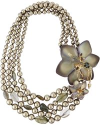 Alexis Bittar - Pearly-Strand Lucite Flower Statement Necklace - Lyst