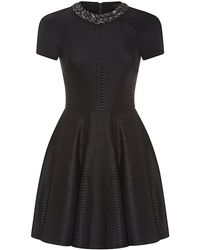 Ted Baker Snake Embossed Neoprene Dress - Lyst