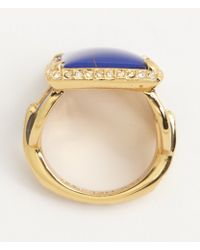 Rachel Zoe Gold And Lapis Square Ring - Lyst