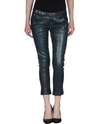 Miss Sixty Denim Trousers green - Lyst