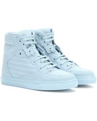 Balenciaga Perforated Leather High-Top Sneakers - Lyst