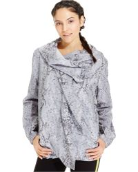 Calvin Klein Performance Snakeskin-Print Hooded Jacket - Lyst
