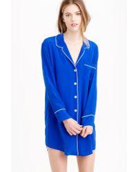 J.Crew   blue Silk Nightshirt   Lyst