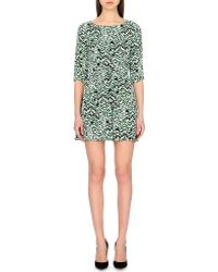 French Connection Leopard Moth Crepe Dress - Lyst