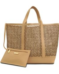 Vanessa Bruno Perforated Leather Tote - Lyst