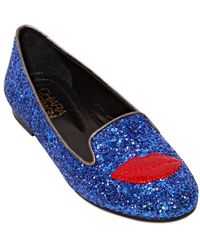 Chiara Ferragni 10mm Lipstick Glitter Loafers - Lyst
