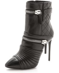 Giuseppe Zanotti Quilted Leather Zip Booties  Black - Lyst