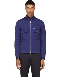 DSquared2 Navy Cotton Twill Jacket - Lyst