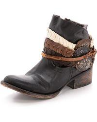 Freebird By Steven Endy Harness Short Boots - Black - Lyst