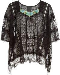 Anna Sui Vintage Lace Top floral - Lyst
