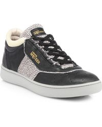Alexander McQueen x Puma Joust Speckled Suede  Leather Lace-up Sneakers - Lyst