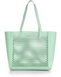 Loeffler Randall Perforated Tote - Lyst