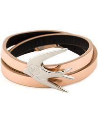 McQ by Alexander McQueen Swallow Triple Wrap Bracelet - Lyst