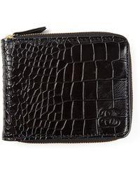 Stussy - All Around Zipper Crocodile Embossed Wallet - Lyst
