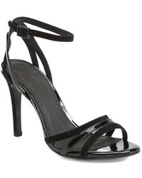 Joie 'Yvette' Suede & Patent Leather Sandal - Lyst