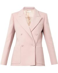Barbara Casasola | Double-Breasted Crepe Blazer | Lyst