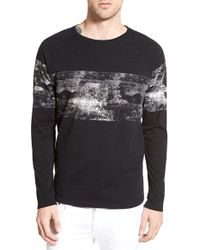 Wesc - 'concrete Stripe' Print Long Sleeve Crewneck T-shirt - Lyst