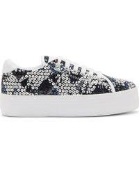 Carven White Sequinned No Name Edition Sneakers - Lyst