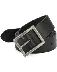 John Varvatos Leather Belt black - Lyst