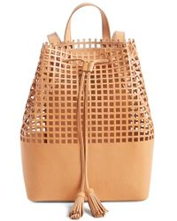Loeffler Randall - Perforated Leather Backpack - Lyst