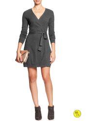Banana Republic Factory Sweater Wrap Dress - Lyst