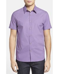 Ted Baker 'Lovedup' Extra Trim Fit Print Sport Shirt - Lyst