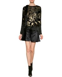 Anna Sui Devor Village Blouse - Lyst