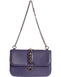 Valentino Medium Lock Leather Bag - Lyst