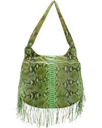 Zagliani Python Fringed Shoulder Bag - Lyst