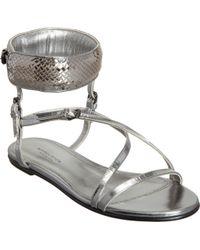 Bottega Veneta Intrecciatocuff Strappy Sandal - Lyst