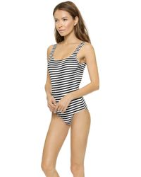 Zimmermann Scoop One Piece Swimsuit - Wide Stripe - Lyst