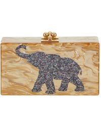 Edie Parker Jean Lucky Elephant Clutch gold - Lyst