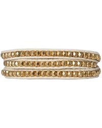 Bungalow 20 | Cream Boho Beaded Wrap Bracelet | Lyst