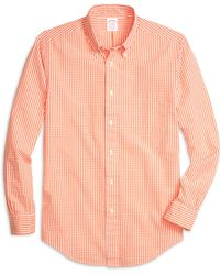 Brooks Brothers Madison Fit Seersucker Check Sport Shirt - Lyst