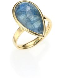 Ippolita Rock Candy London Blue Topaz, Labradorite & 18K Yellow Gold Doublet Ring gold - Lyst