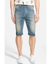 True Religion 'Dean' Knit Denim Shorts - Lyst