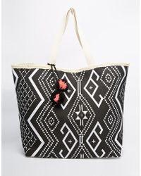 South Beach - Aztec Print Beach Bag - Lyst