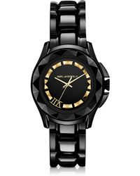 Karl Lagerfeld Karl 7 36 Mm Black/Gold Ip Stainless Steel Unisex Watch - Lyst