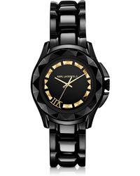 Karl Lagerfeld Karl 7 36 Mm Black/Gold Ip Stainless Steel Unisex Watch black - Lyst