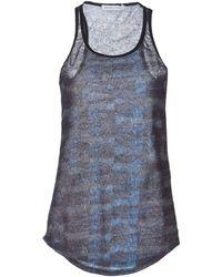 See By Chloé Printed Sleeveless Jersey Top - Lyst