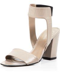 Delman - Block Heel Sandals - Abbie - Lyst