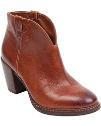 Steven By Steve Madden Friisky Leather Booties - Lyst