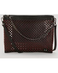 Halston Heritage Clutch - Large Perforated Convertible black - Lyst