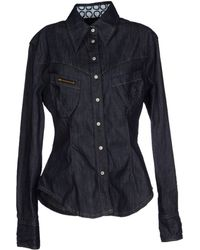 Vivienne Westwood Anglomania Denim Shirt - Lyst