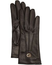 Gucci Classic Leather Driving Gloves - Lyst