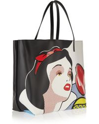 RED Valentino Snow White Leather Tote - Lyst