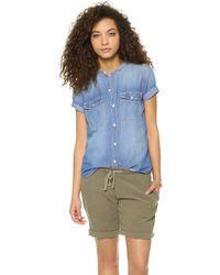Madewell Short Sleeve Chambray Shirt - Lyst
