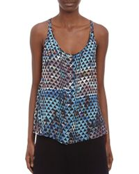 Proenza Schouler Pool Collage Georgette Tank - Lyst
