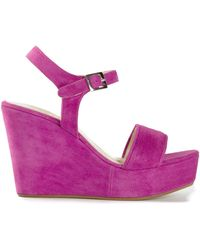 P.A.R.O.S.H. | Wedge Heel Sandals | Lyst
